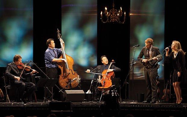 Yo-Yo Ma, Stuart Duncan, Chris Thile, Edgar Meyer & Aoife O'Donovan at McMenamin's Edgefield Concerts