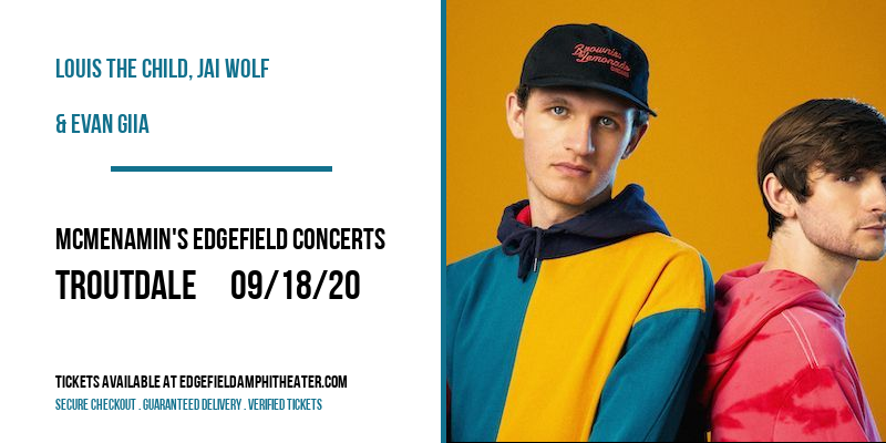 Louis The Child, Jai Wolf & Evan Giia at McMenamin's Edgefield Concerts
