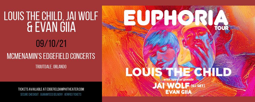 Louis The Child, Jai Wolf & Evan Giia at McMenamin's Edgefield Concerts